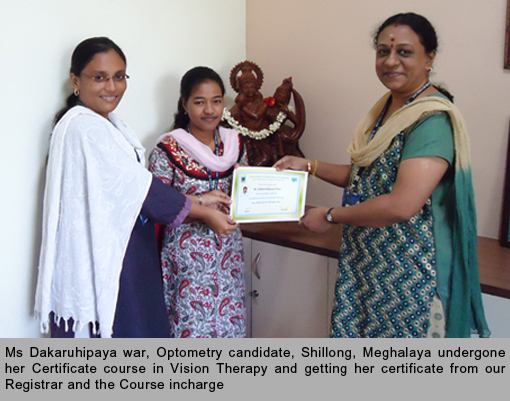 Certificate course in Vision Therapy