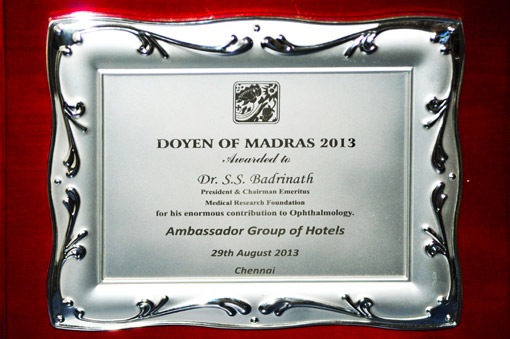 Doyen of Madras 2013