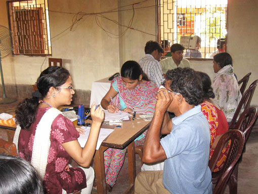 Eye camp at Joka