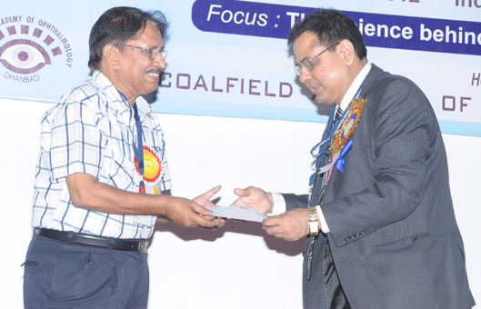 Dr. Jyotirmay Biswas honoured by twin Ophthalmological Societies