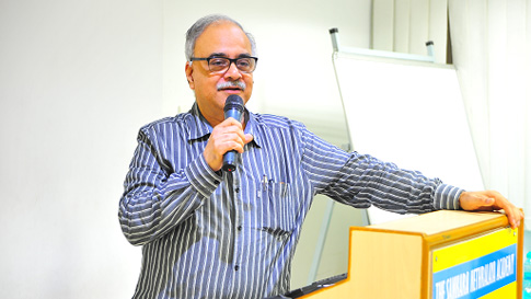 Dr. T .S Surendran – Vice Chairman, Sankara Nethralaya addressing the Healthcare Management Program Candidates