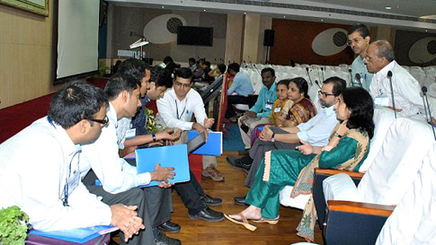 Practical Session at the Teachers in Ophthalmology Workshop